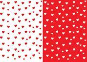"Rainbow χαρτόνι ""καρδιές κόκκινες-άσπρες"" 300γρ. 50x70εκ."