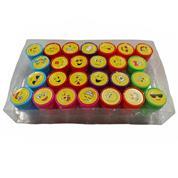 Σφραγίδες παιδικές emoji διάφορα σχέδια σετ 26 τεμάχια