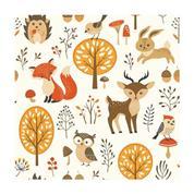 """Χαρτοπετσέτες 20τεμ. """"ζώα δάσους"""" 33x33εκ. (SDOG 018101)"""