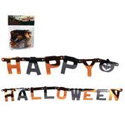 """Διακοσμητική γιρλάντα """"Happy Halloween"""" 1.68m. σε blister"""