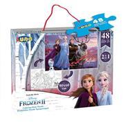 Luna παζλ δαπέδου Frozen 2, 2 όψεων, 48 τεμ., 90x60 εκ.