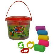 Πλαστοζυμαράκια σε κουβαδάκι , 5 χρώματα και 3 κοπτικά