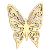 Πεταλούδα ξύλινη 8.6x6.7x0,3εκ.