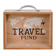 Κουμπαράς - κορνίζα ξύλινος Travel Fund Υ12x20,5x5εκ.