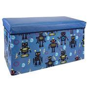 """Σκαμπώ-κουτί αποθήκευσης υφασμάτινο """"ρομπότ"""" Υ35x60x30εκ."""