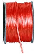 Κορδέλα σατέν ποντικοουρά κόκκινη μπομπίνα 50μ