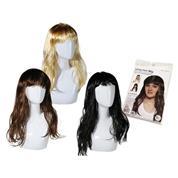Περούκα μακριά μαλλιά 3 χρώματα