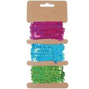 Κορδέλα παγιέτα 6χιλ. x2μ. 3 χρώματα