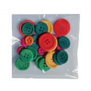Διακοσμητικά κουμπιά χρωματ. ξύλινα 30τεμ,Ø 22mm,Ø 18mm,Ø 7mm