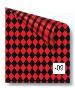 Rainbow χαρτόνι καρό μαύρο-κόκκινο 2 όψεων 50x70εκ.