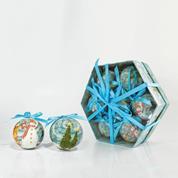 Χριστουγεννιάτικες μπάλες σε κουτί δώρου 7τμχ.