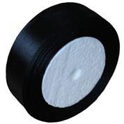 Κορδέλα σατέν με ούγια μαύρη 2,5εκ. x 22μ.