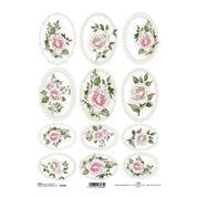 """Ριζόχαρτο """"pink roses"""" 21x29εκ.   (ITD-R1326)"""