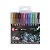 Μεταλλικά στυλό gel σετ 12τεμ.