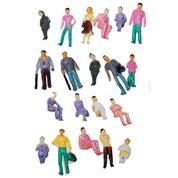Ανθρώπινες χρωματιστές φιγούρες μακέτας πλαστικές 1:100, ύψος 1,8εκ. (20τεμ.)