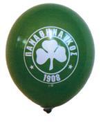 """Μπαλόνια βαρελάκι 12'' """"ΠΑΟ"""" 100τεμ."""