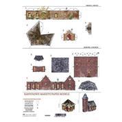 """Μοντέλα με κοπτικά από χαρτί 250γρ. """"Χριστουγεννιάτικα κτίρια"""" 21x29.7εκ. (PM-0004)"""