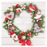 """Χαρτοπετσέτες 20τεμ. 33x33εκ """"χριστουγεννιάτικο στεφάνι"""" (SDGW 015901)"""