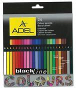 Adel ξυλομπογιές Blackline painted body 24 χρώματα