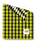 Rainbow χαρτόνι καρό κίτρινο-μαύρο 2 όψεων 50x70εκ.