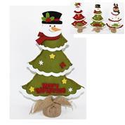 Χριστουγεννιάτικο δέντρο διακοσμητικό, από τσόχα σε 3 σχέδια Υ33x20x6εκ.