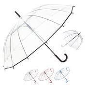 Ομπρέλα αυτόματη διάφανη κοκτέηλ 6 χρώματα Ø88εκ.