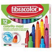 Fibracolor μαρκαδόροι ζωγραφικής Colorito maxi 12χρώμ.