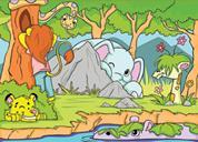 "Next παζλ ""Παιχνίδια στη ζούγκλα "" 25x35εκ. 30 τεμαχίων"