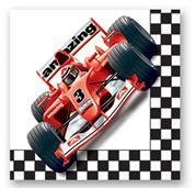 """Χαρτοπετσέτες """"race car"""" 25x25εκ."""