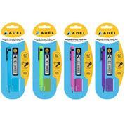 Adel σετ μηχανικό μολύβι 0,7 mm , 60 μύτες και σβήστρα σε blister.