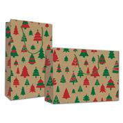"Next χάρτ. τσάντα κραφτ Υ24x23x10εκ. ""Χριστουγεννιάτικα Δέντρα"""