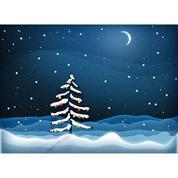 """Ευχετήριες κάρτες χριστουγεννιάτικες """"χιονισμένο δέντρο"""" 16x11,6εκ."""