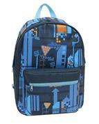 Bagtrotter τσάντα πλάτης εφηβική μπλε με 1 θήκη 40x30x16εκ.
