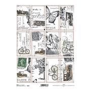 """Ριζόχαρτο """"stamps"""" 21x29εκ.   (ITD-R543)"""