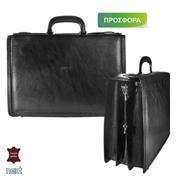 Δερμάτινη τσάντα επαγγελματική 44x12x30εκ. μαύρη