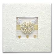 """Φώτο άλμπουμ γάμου λευκό """"καρδιά"""" για 120 φωτογρ. 27x27εκ."""