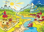"Next παζλ ""Το χωριό των Βίκινγκς"" 25x35εκ. 30 τεμαχίων"