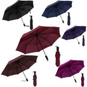 Ομπρέλα σπαστή, αυτόματη 6 σκούρα χρώματα Ø55εκ.