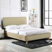 MORISSON κρεβάτι διπλό dark beige Y110x216x171εκ. (στρώμα 160x200εκ.)