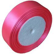 Κορδέλα σατέν με ούγια σκ. ροζ 2,5εκ. x 22μ.