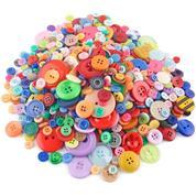 Κουμπιά πλαστικά διαφ.σχέδια και χρώματα 500γρ.