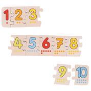 Goki παζλ ξύλινο με αριθμούς απο το 1 εώς το 10