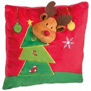 """Χριστουγεννιάτικο μαξιλάρι """"τάρανδος"""" 30x30x9εκ."""