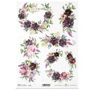 """Ριζόχαρτο """"Flowers, bouquets"""" 21x29.7εκ.   (ITD-R1751)"""