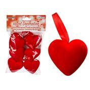 Διακοσμητική καρδιά πλαστική 5x3εκ.6τεμ.