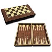 Star σκάκι-τάβλι καρυδιάς 44x44x5,5εκ.