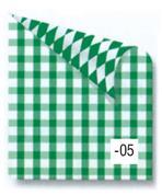 Rainbow χαρτόνι καρό πράσινο-λευκό 2 όψεων 50x70εκ.