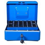 Κουτί φύλαξης-μεταφοράς χρημάτων μπλε 25x18x9εκ.
