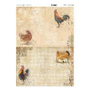 """Ριζόχαρτο """"hens"""" 42x29.7εκ.   (ITD-R205L)"""