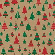 "Next χαρτί περιτυλίγματος κραφτ ""Χριστουγεννιάτικα Δέντρα"" 16 φύλλα 70x100εκ. 70γρ."